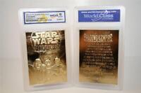 Star Wars SHADOWS OF THE EMPIRE 23KT Gold Card Sculptured - Graded GEM MINT 10