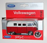 Welly - 1963 VW VOLKSWAGEN T1 BUS (Red & White) - Model Scale 1/39