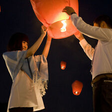 10X Chinese Lanterns Fire Sky Fly Candle Lamp Party Wish Lamp Sky Lanterns GYTH