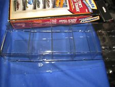 Display case tower Jammers collector holds 4 hot wheel on card stand up or hang