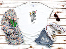 Best mate Tom and Jerry cartoon character 3/4 Short sleeve Woman T Shirt K681