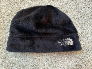 The North Face Fluffy Fleece Black Beanie Ski Hat Baby Infant One Size
