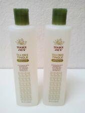 2 Pack Trader Joe's Tea Tree Tingle Shampoo 16 FL OZ Each Bottle