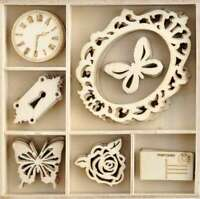 883416176633 Kaisercraft Wood Mini Themed Embellishments Oh Happy Day
