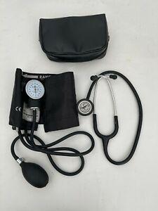 3M Littmann Classic II S.E. Stethoscope - Black with Blood Pressure Cuff & Case