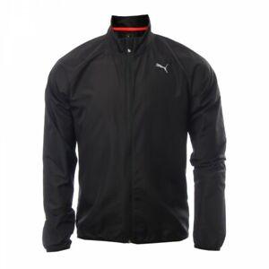Puma Men's Running Jacket Wind proof Full Zip Long Sleeve Jacket - Black - New