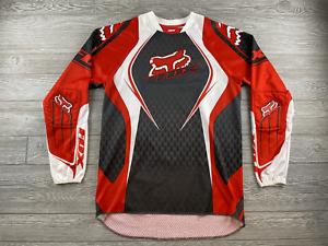 Fox Racing  Long Sleeve Shirt Sz Adult Small Red Motorcycle Shirt