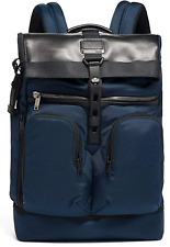 Tumi LONDON ROLL TOP BACKPACK Tahoe Luggage Laptop Bag Navy Blue 232388NVY $450