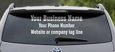 3 Line Back Custom Window Business Truck Car Vehicle Vinyl Lettering Decal Color