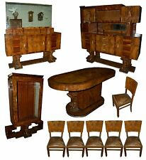 Fabulous 10 Pc. Art Deco Dining Set C. 1920 #5341