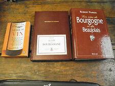 lot de 3 ouvrages sur le vin,  vin de bourgogne