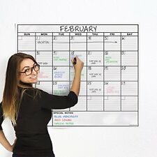 OfficeThink Wall Calendars Laminated Jumbo Calendar Huge 36Inch by 48Inch Size