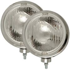 ANZO Off Road Halogen Light Universal H3 8in Round Slimline Off Road Light Chrom