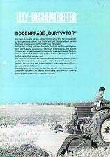 """Lely- Dechentreiter Bodenfräse """"Buryvator"""", orig. Prospekt 1967"""