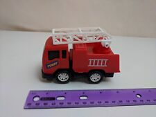 Greenbrier International Red Fire Truck Turbo Pull-back Working w/ Ladder 4.5""