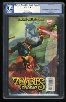 Marvel Zombies Dead Days #1 PGX NM 9.4 White Pages