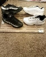 2 pair nike air max 95 size 6/ 6.5 youth