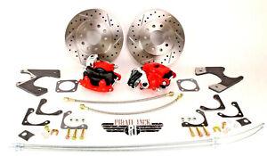 Chevy 10 12 Bolt Rear End Disc Brake Kit Chevelle El Camino, Cutlass Red Caliper