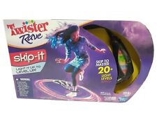 Twister Rave Skip It Electronic Light Up Jump Hop Party Family Fun Game Hasbro
