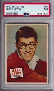 1957 HIT STARS #86 JERRY LEWIS PSA 7