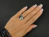Fine Retro Vintage Women Ring Solid Sterling Silver 925 Fashion Jewelry Size 6.5