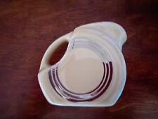 Fiesta® Retro PLATINUM Stripe Ivory Mini Disk Disc Pitcher / Creamer HLCCA