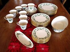 Lenox Holiday Dimension 42 Pieces -- 8 Five Piece Place Settings & Extras
