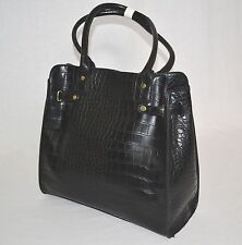 $98 Marc Fisher Cherry Hill Belted Tote BLACK