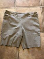 1x Time And Tru Women's Pull On Millennium Bermuda Shorts X-Large 16/18 Khaki XL