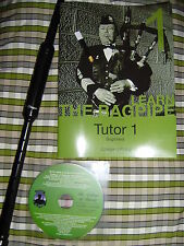 Learn Great Highland Bagpipe pipes Tutor Book + Practice Chanter + Reed