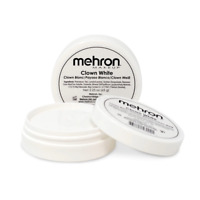 MEHRON CLOWN WHITE MAKE UP PROFESSIONAL STAGE CLOWN FACE BODY MAKEUP PAINT 2OZ