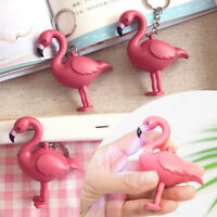 Flamingo Owl LED Flashlight Key Chain Animal Keyring Handbag Pendant Ornaments