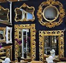 Großer Barock Wandspiegel Flurspiegel 149x89 cm Standspiegel Spiegel Gold Antik