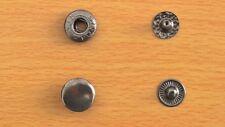 Boutons pression 10 sets métal gunmetal noir 12mm boutons pression anorak nickel