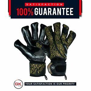 GK Saver Prime Pro Gold/black Professional Football goalkeeper gloves