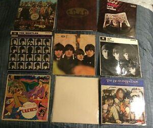 Beatles vinyl collection 9 original UK albums Parlophone Apple VG+ condition