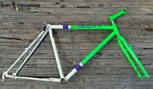 "Scott Limited MTB RH Set BJ 1989 Neongrün Spinner Gabel Ishiwata 024CrMo RAR 19"""