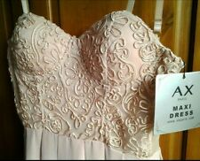 Maxi prom debs cocktail dress lace corset bodice by Ax Paris BNWT 10