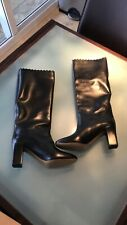 Woman's Chloe  combat boots   Black leather biker 40/10