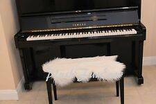 """20"""" x 30"""" FAUX FUR Warm White A22 PIANO Seat PADDING Keyboards Accessories New"""