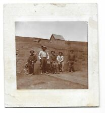 1800s Photograph ~ Five Gentleman and a Dog ~ At a California Fort Near Salinas