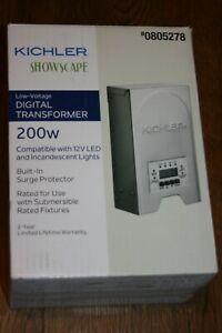 Kichler 200W 120V Multi-Tap Landscape Lighting Transformer with Digital Timer