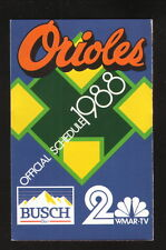 Baltimore Orioles--1988 Pocket Schedule--WMAR/Busch