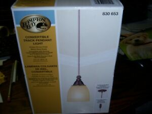 Hampton Bay Convertible Track Pendant Light Antique Bronze 830 653 New Open Box