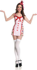 Halloween Cosplay Costume Juniors Teen M Cupcake Girl Cute Dessert Sweets Hearts