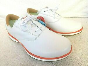 New Skechers Women's Sz.9 GoGolf Elite 2 Softspike Golf Shoes White w/ Coral