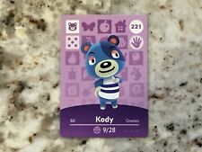 KODY #221 Animal Crossing Amiibo Card Mint From Either Series 1, 2, 3, 4, 5.