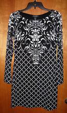 WHITE HOUSE BLACK MARKET Jersey Knit B&W Dress size XS