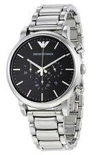 Emporio Armani Classic Chronograph 41mm Black Dial Silver Men's Watch AR1853 SD