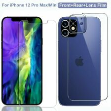 Tempered Glass Front+Rear+Lens Film Screen Protector for iPhone 12 Pro Max 5G ღღ